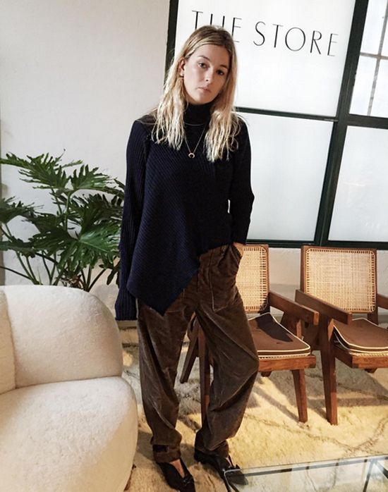 OBSESSED with Camille Charrière's cotton corduroy tapered pants by Faith Connexion, available to purchase at NET-A-PORTER
