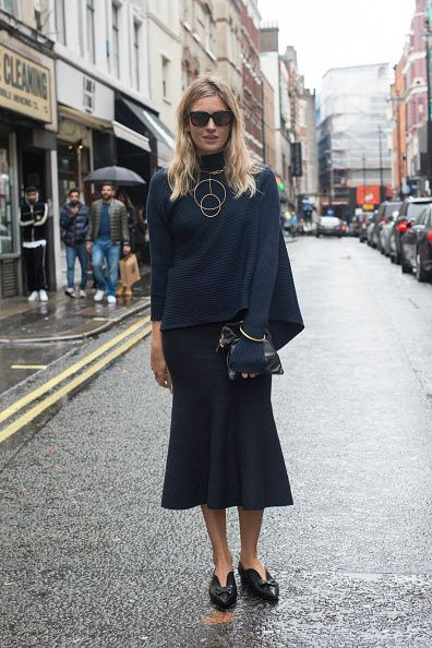 Camille Charrière is wearing Marques Almeida, Victoria Beckham and Laurence Dacade