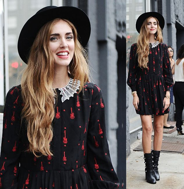 Chiara Ferragni is seen outside the DVF show wearing a Saint Laurent dress during New York Fashion Week 2016 on September 13, 2015 in New York City. (Photo by Daniel Zuchnik/Getty Images)