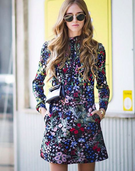 Chiara Ferragni on Day 4 of Milan Fashion Week Spring Summer 2015 wearing Valentino.