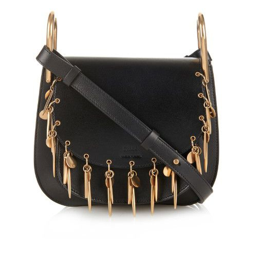 chloe-hudson-smooth-black-leather-embellished-with-gold-tone-beads-shoulder-bag