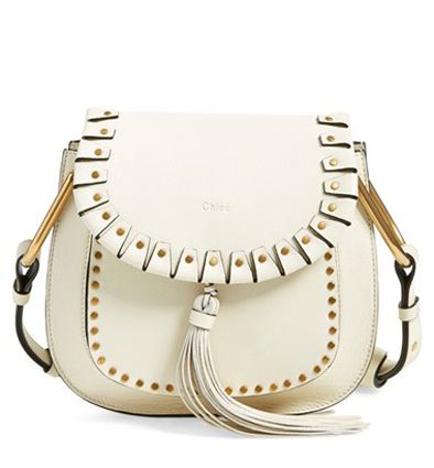 * Small Hudson studded white calfskin leather shoulder bag available at NORDSTROM.com
