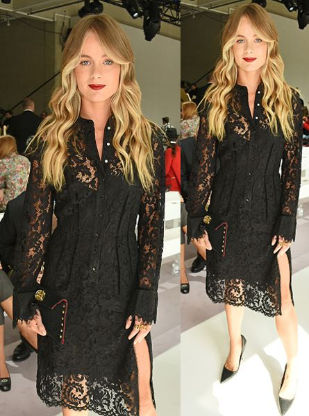 Cressida Bonas attends the Topshop Unique show during London Fashion Week SS16 at The Queen Elizabeth II Conference Centre on September 20, 2015 in London, England. (Photo by David M. Benett/Dave Benett/Getty Images for Topshop)