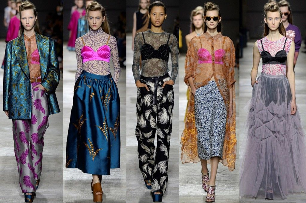 1 bra, 5 looks: by Dries Van Noten Spring 2016