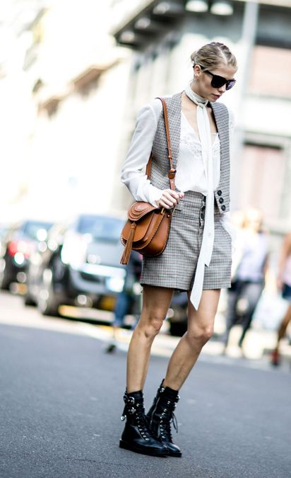 Elena Perminova on the streets of Milan durinh Fashion Week SS16