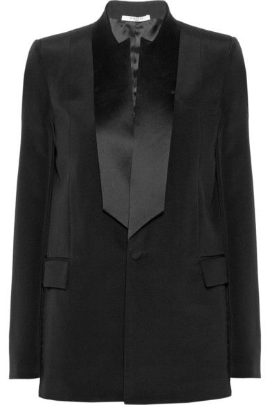 Givenchy satin-trimmed silk-cady tuxedo jacket available at NET-A-PORTER