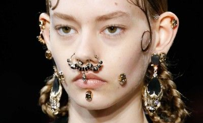 Givenchy skull nose ring available at LUISAVIAROMA.com