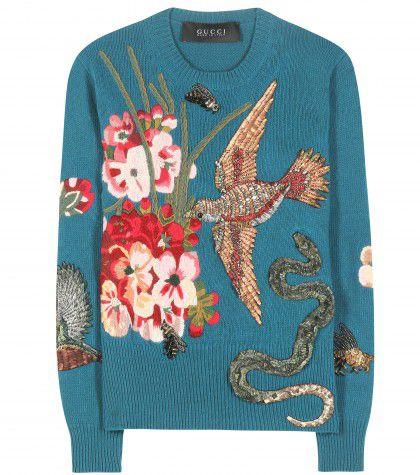 gucci-Embellished-and-embroidered-wool-sweater-fall-2015