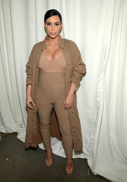 Kim Kardashian West attends Kanye West Yeezy Season 2 during New York Fashion Week at Skylight Modern on September 16, 2015 in New York City. (Photo by Kevin Mazur/Getty Images for Kanye West Yeezy)