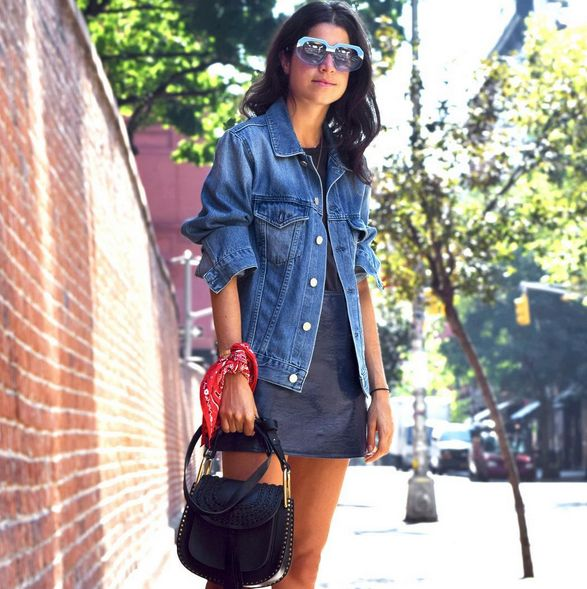 Leandra Medine's Hudson black suede braided bag is available at LUISAVIAROMA.com