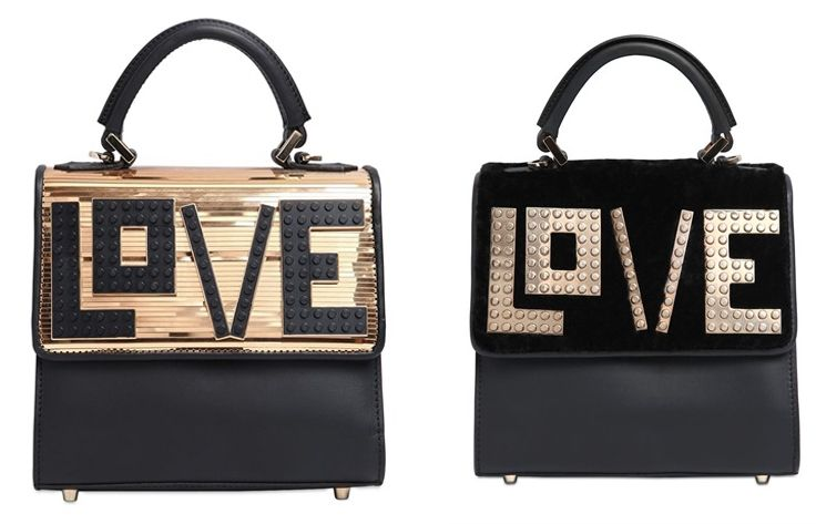 Mini Alex Love etallic leather bag available at LUISAVIAROMA.com