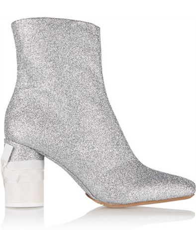 Maison Margiela glittered leather ankle boots available at NET-A-PORTER
