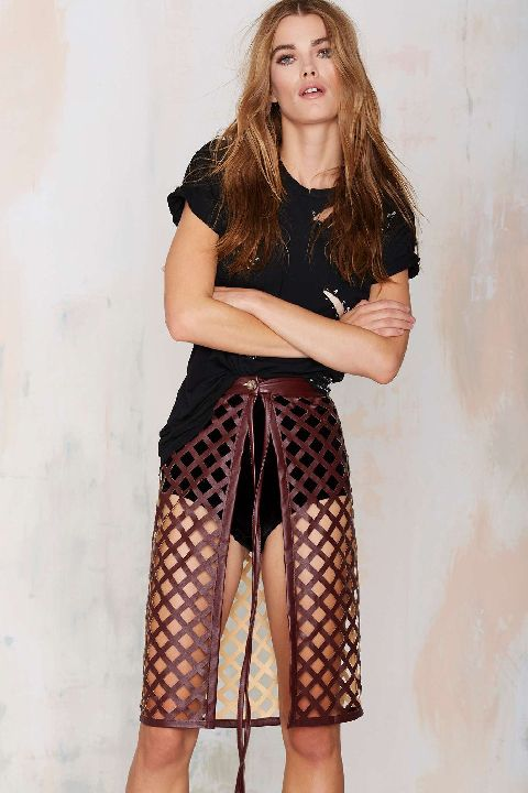Nasty Gal laser cut skirt