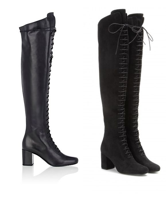 But this fall we are loving Saint Laurent's Babies over-the-knee boots