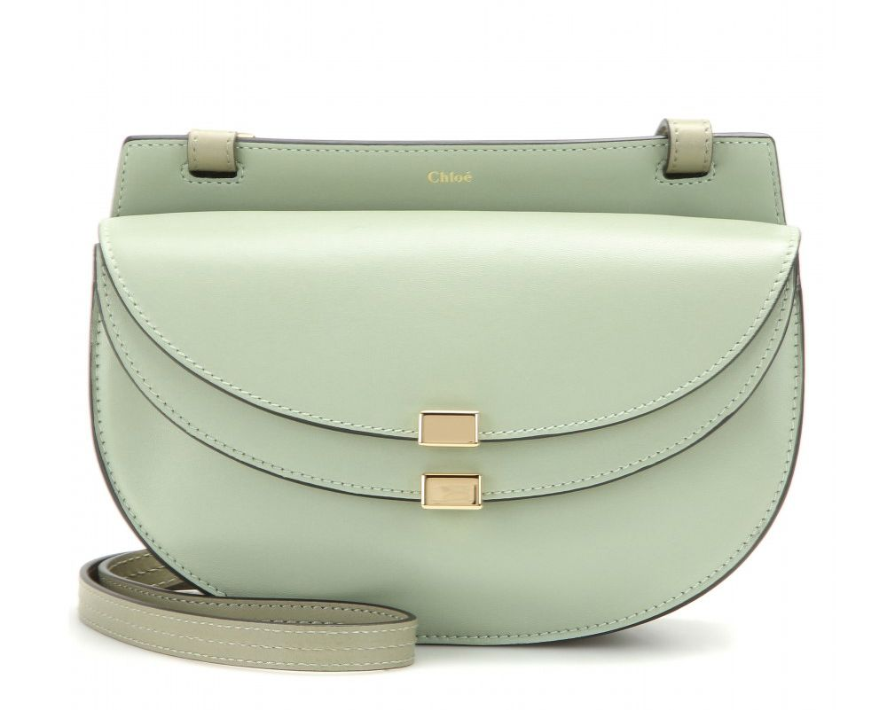 This Chloé Georgia shoulder bag in pistachio green leather is available at MYTHERESA.com