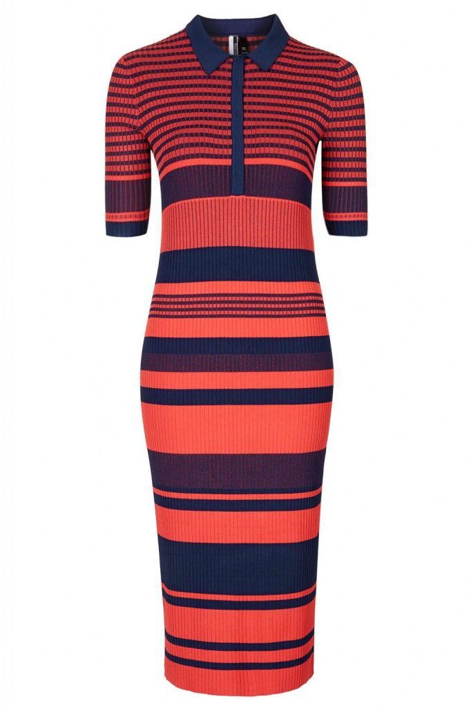 THE AFFORDABLE ALTERNATIVE: striped midi dress by TOPSHop.com