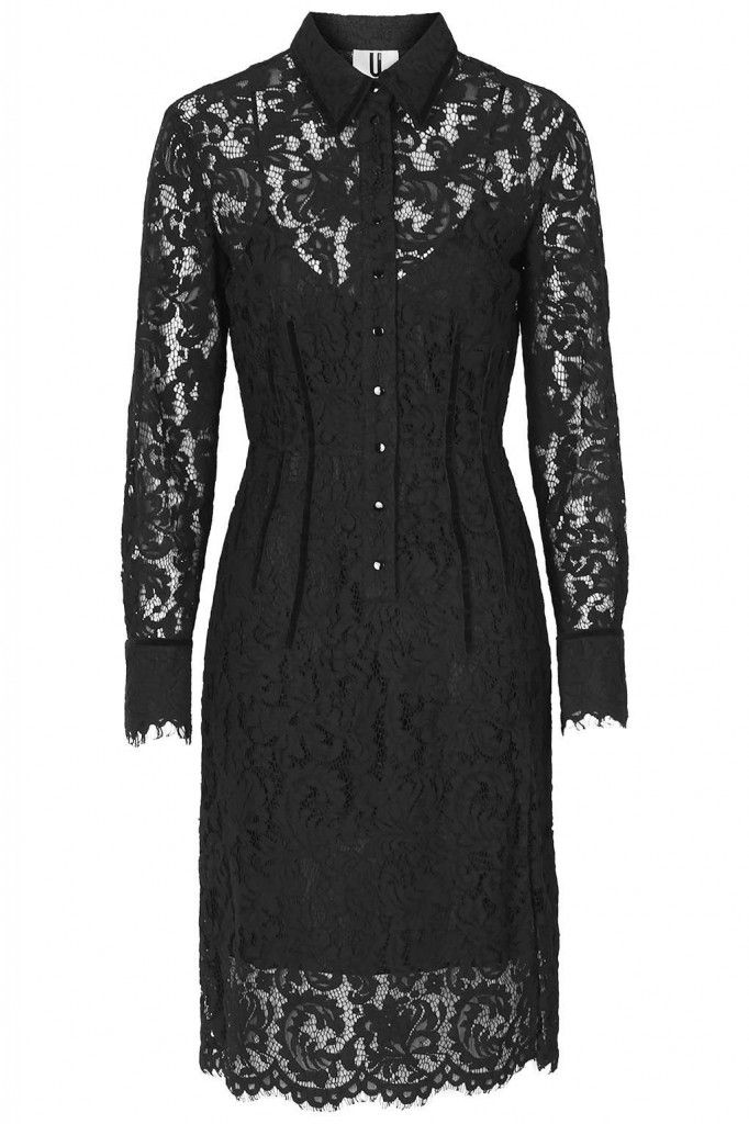 Cressida's Oakham lace shirt dress by Unique is available at TOPSHOP.com