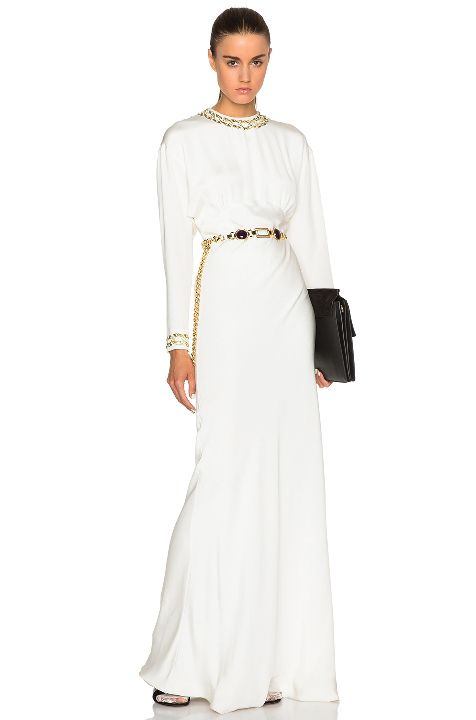 alessandra-rich-draped-white-silk-dress-with-embroidered-chain-collar