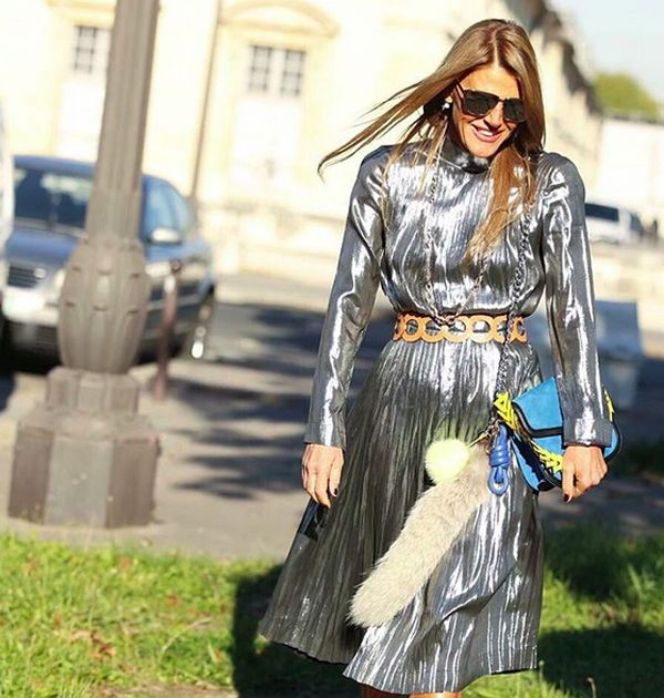 Anna dello Russo out in Paris for Fashion Week SS16