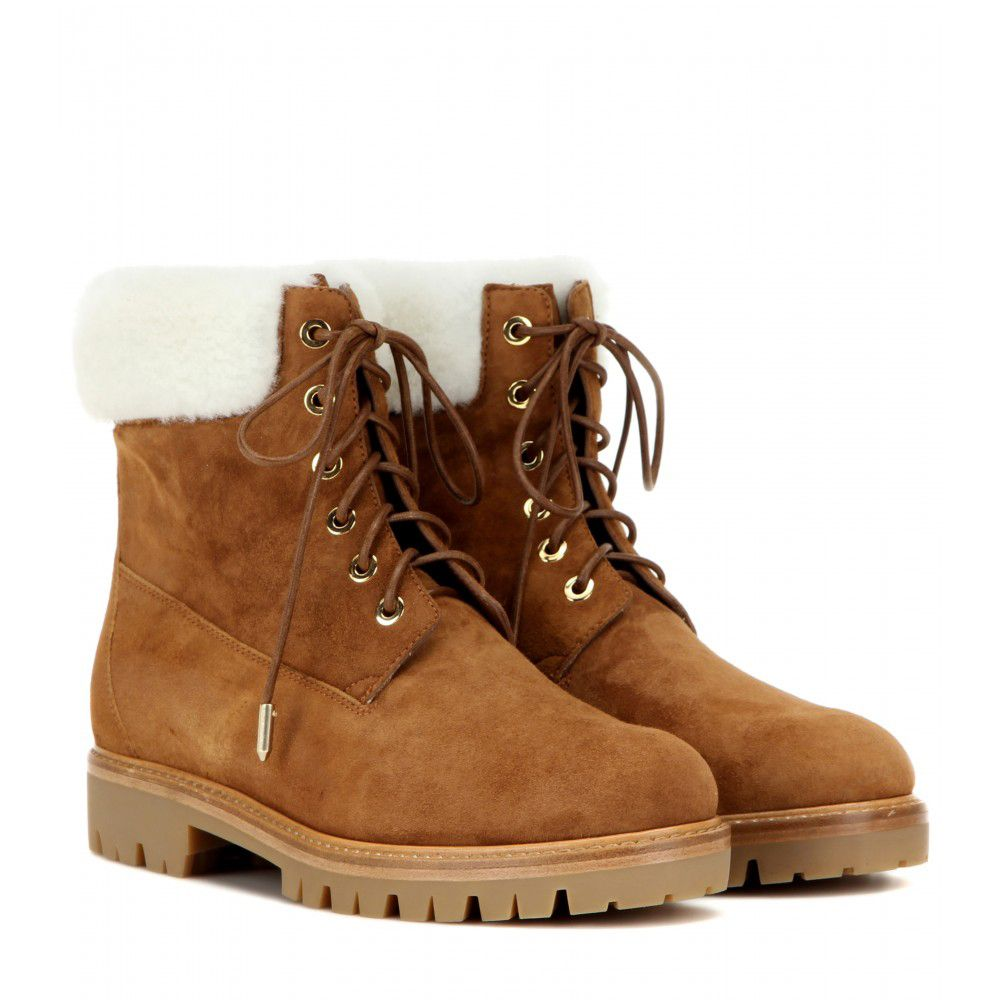 You can get the Aquazzura fur-trimmed winter boots from MYTHERESA.com