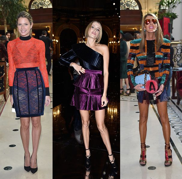 Helena Bordon, Elena Perminova and Anna dello Russo