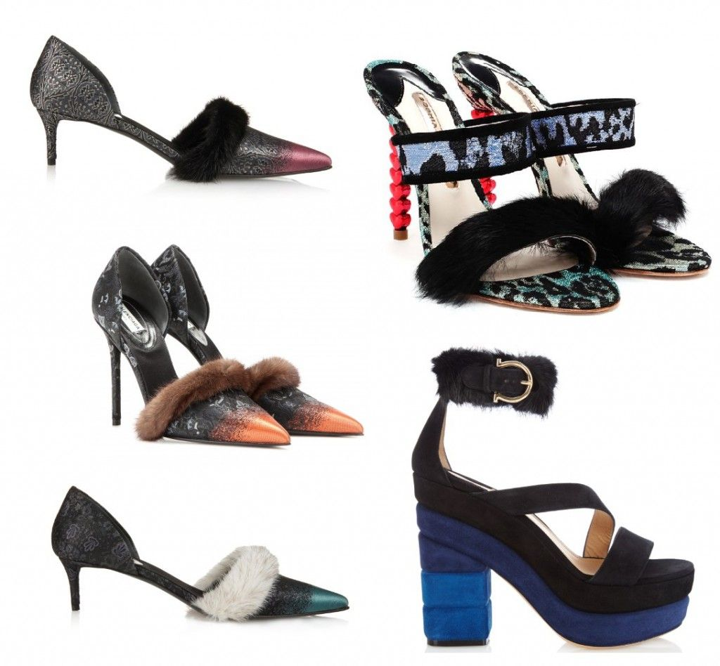 Balenciaga mink fur-trimmed jacquard pumps available at MATCHESFASHION.com
