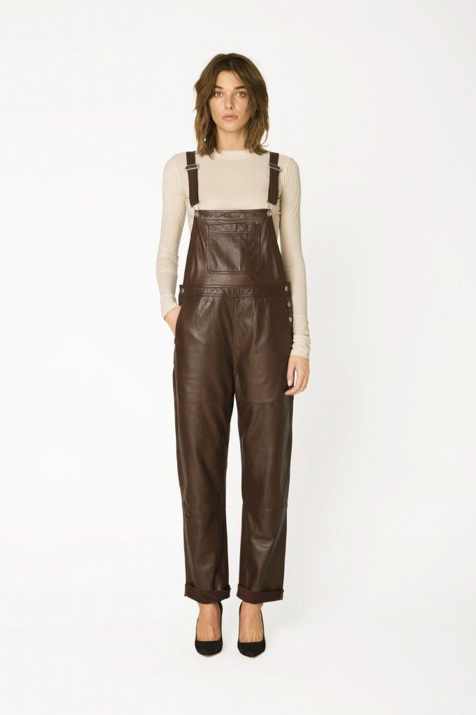 Her Ganni Passion dungarees is available at GANNI.com