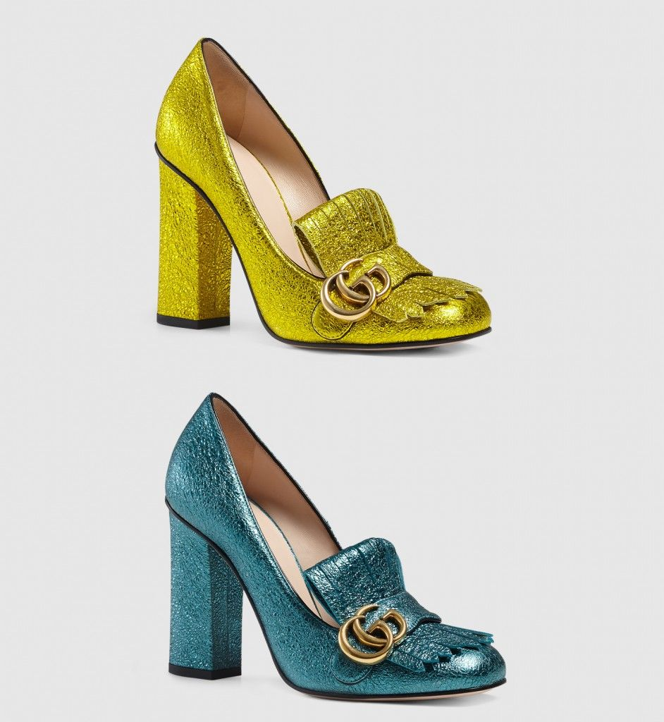Also available in turquoise metallic laminate leather at GUCCI.com