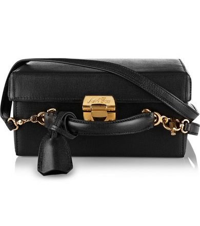 Grace large black leather box bag available at NET-A-PORTER