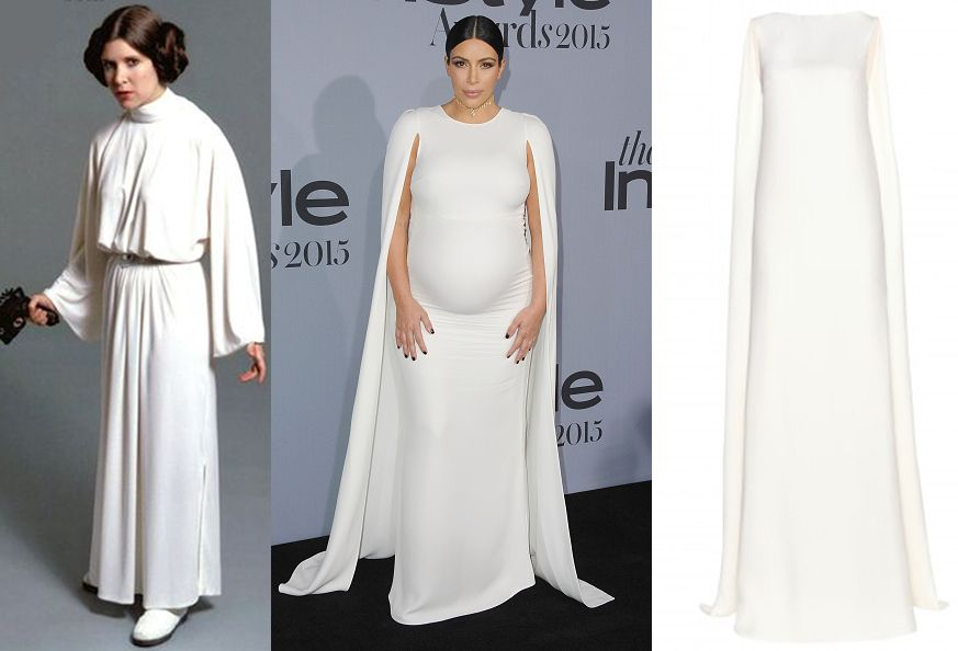 Kim Kardashian as Princess Leia at the InStyle Awards 2015