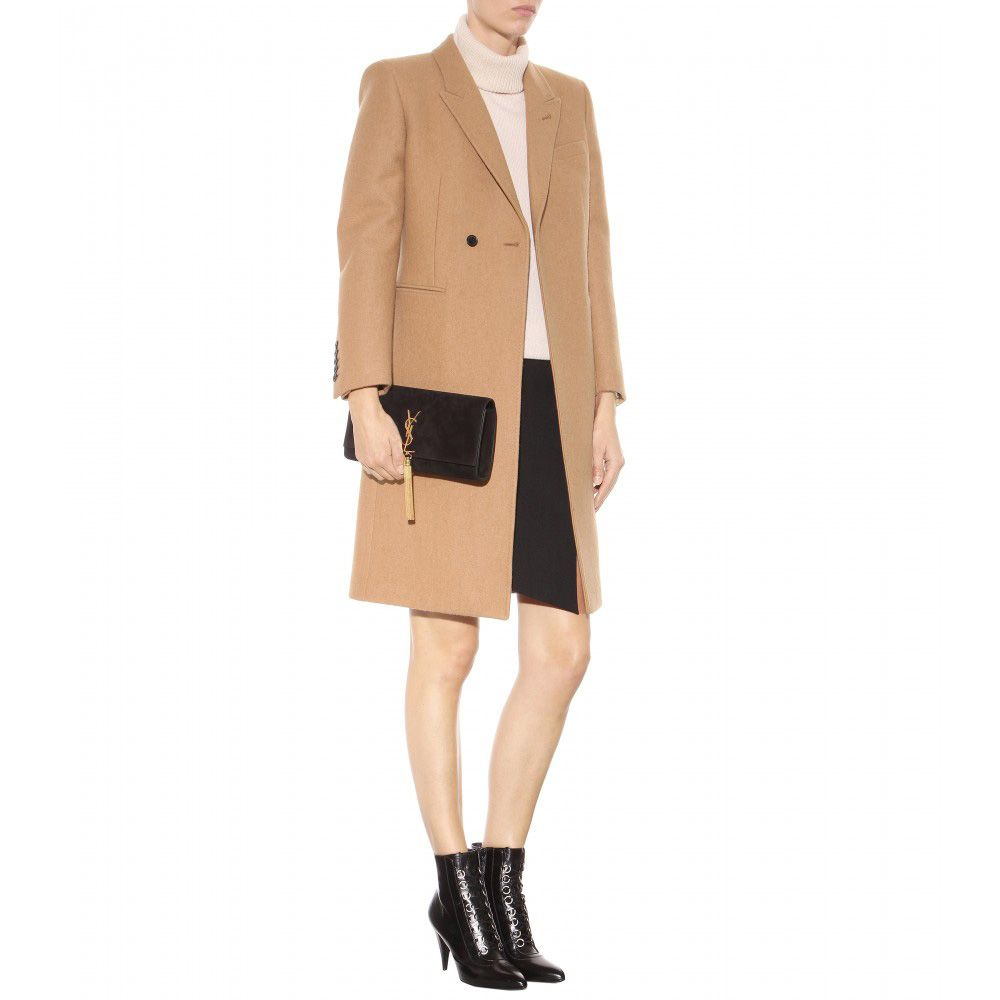 LAIA'S PICK: Saint Laurent camel wool coat available at MYTHERESA.com