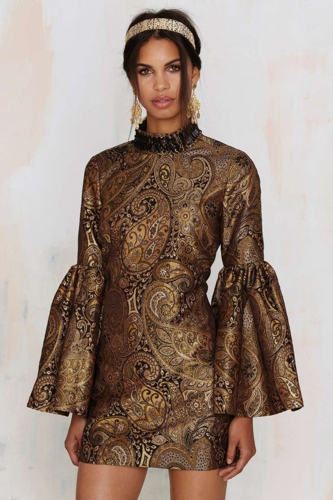 Nasty Gal's Go for Baroque bell sleeve mini dress available at NASTY GAL