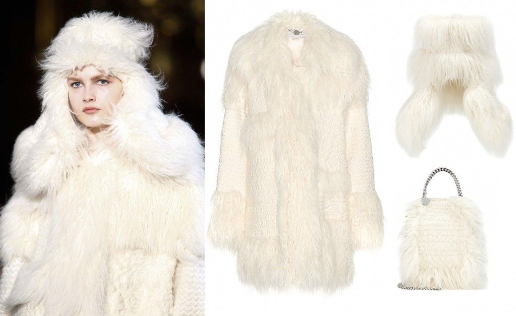 Modern yeti by Stella McCartney FW15 Raona faux fur coat available at MYTHERESA.com
