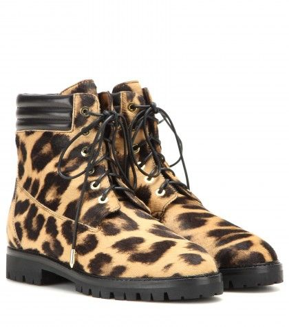 The Heilbrunner printed calf hair boots available at MYTHERESA.com