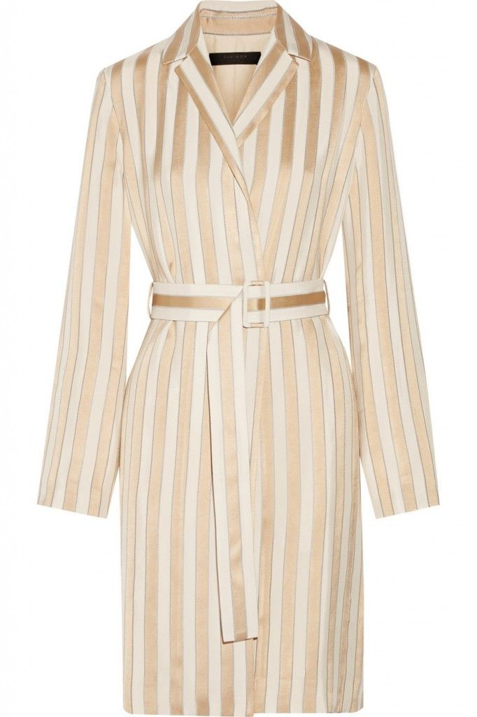The Roe Stervis belted striped jacquard coat available at NET-A-PORTER