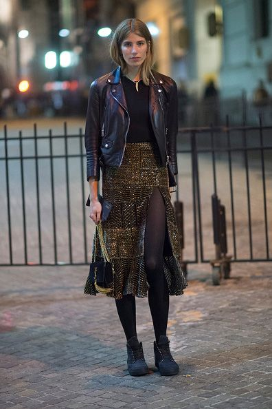 Veronika Heilbrunner in Acne Studios and Altuzarra