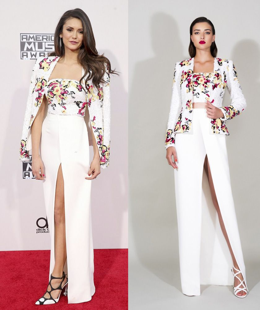 Nina Dobrev in Zuhair Murad Resort 2016