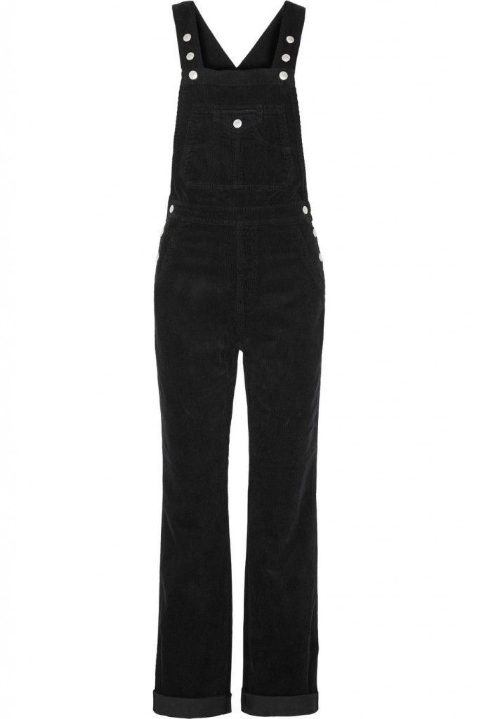 Alexa Chung X AG Jeans The Bunny cotton-corduroy overalls 50%off available HERE