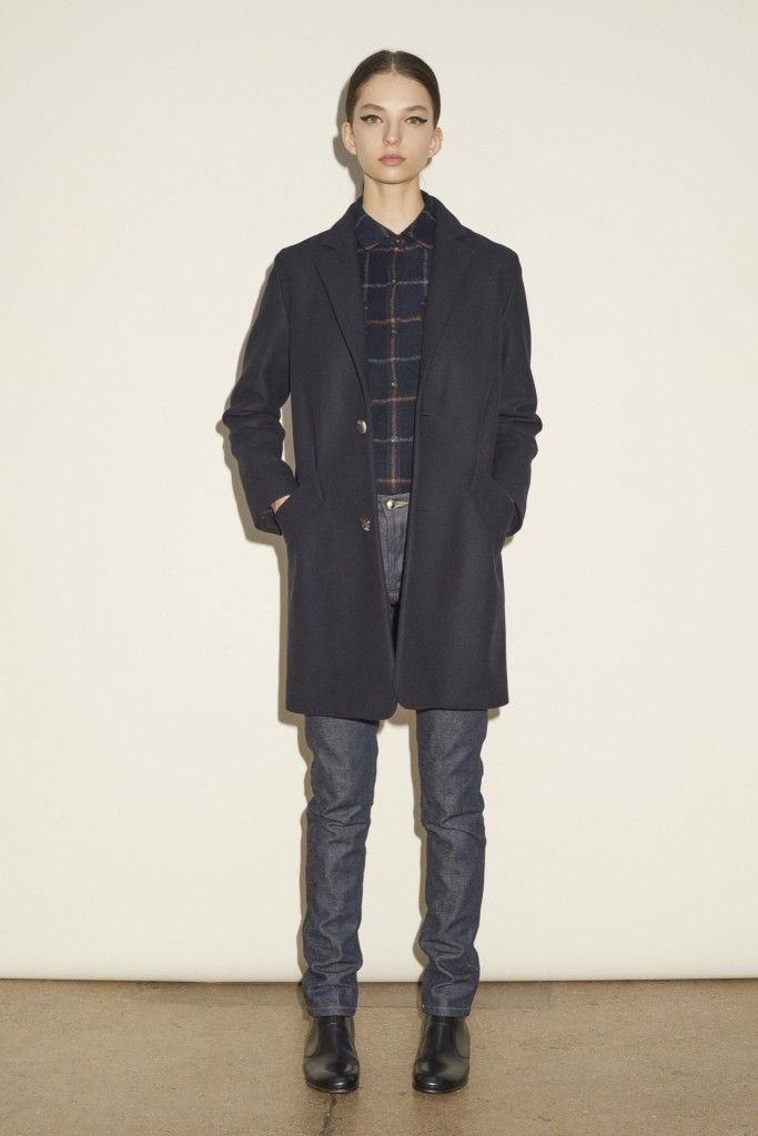 A.P.C. midnight blue wool-blend coat available at NET-A-PORTER
