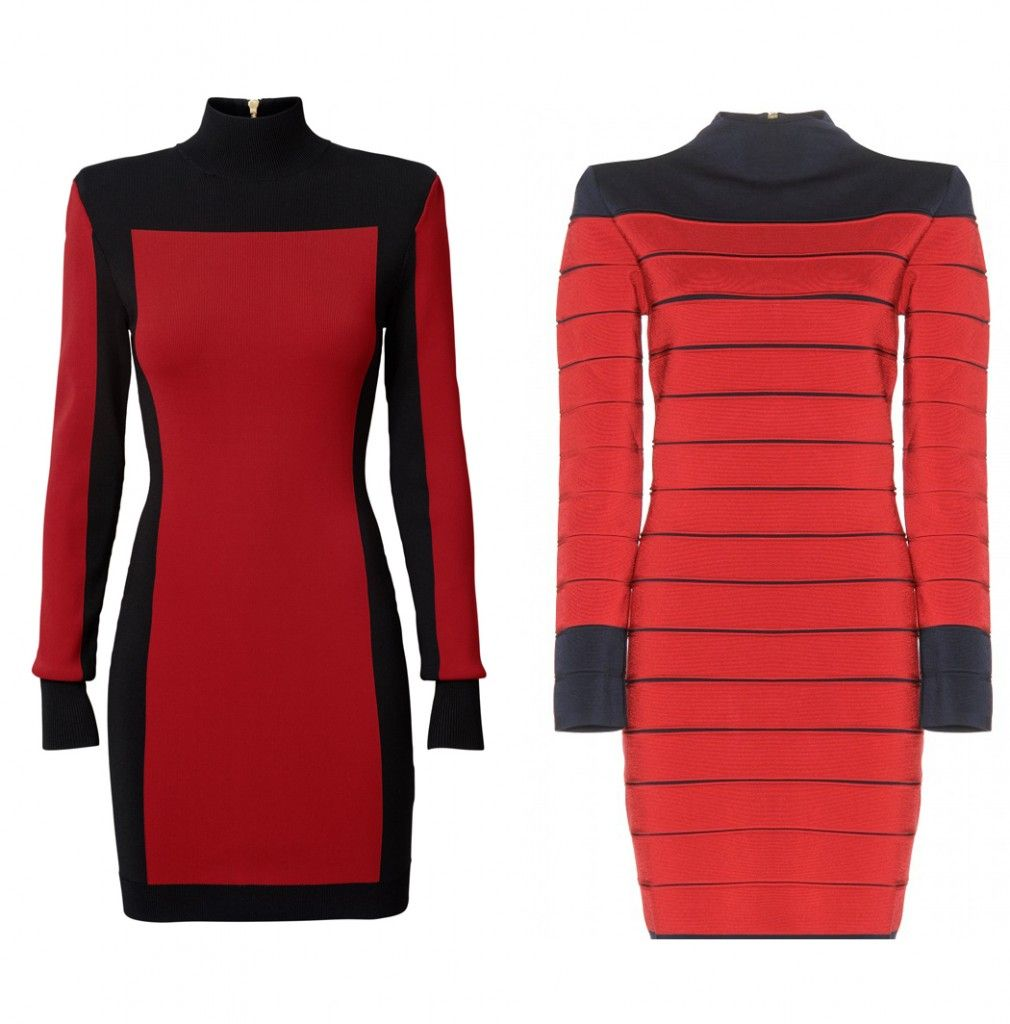Balmain X HM vS. balmain bondage dress available at MYTHERESA.com