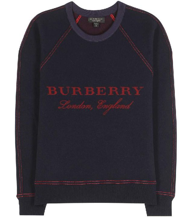 Burberry wool and cashmere-blend logo sweater available at MYTHERESA.com