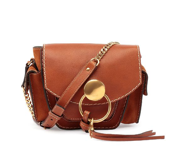 Chloé Jodie small caramel leather camera bag available at NEIMAN MARCUS