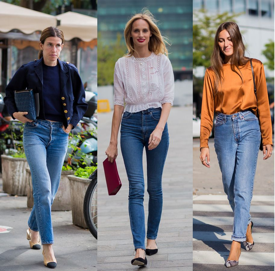 Jeans? Yeah! Why not! As long they're not frayed or cropped.