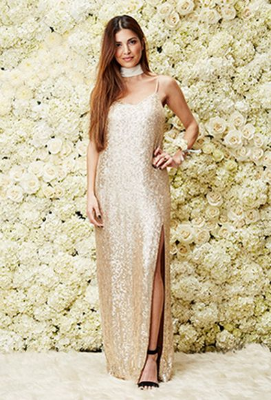 MLV sequin maxi dress