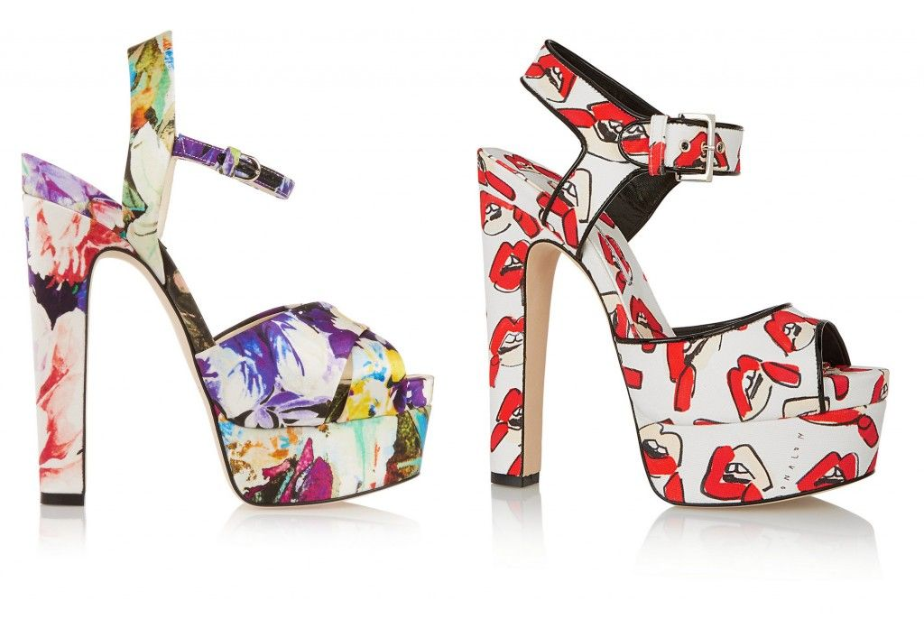 Brian Atwood Madison printed satin platform sandals available at NET-A-PORTER Brian Atwood X Donald Robertson Karin Lips printed platform sandals available at NET-A-PORTER