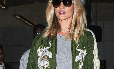 Rosie Huntington-Whiteley arrives at LAX
