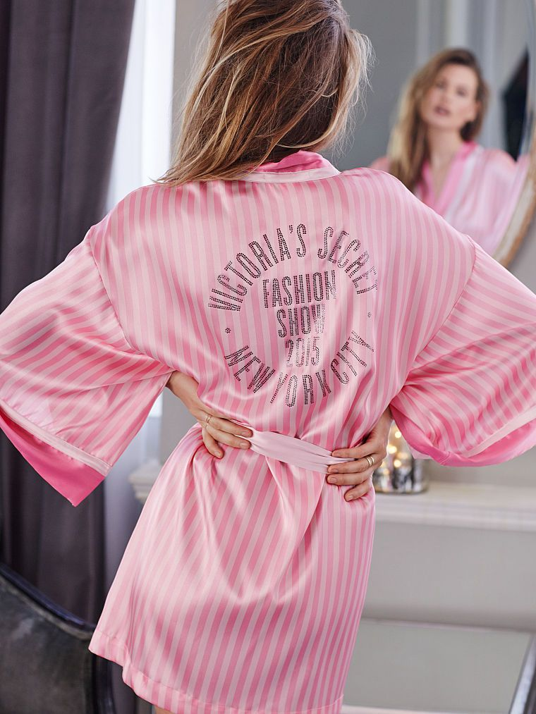 Victoria's Secret Fashion Show 2015 siljy kimono robe available at VICTORIASSECRET.com