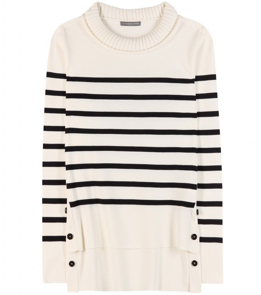 Alexander McQueen striped wool sweater available at MYTHERESA.com