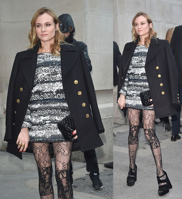 Diane Kruger arrives at the Chanel fashion show Paris Fashion Week Haute Coture Spring /Summer 2016 on January 26, 2016 in Paris, France. (Photo by Jacopo Raule/GC Images)