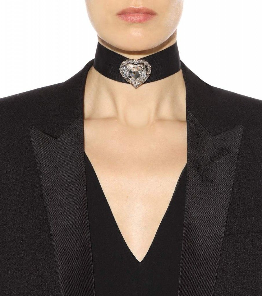 LAIA'S PICK: Christopher Kane Love Heart Swarovski embellished grosgrain choker available at MYTHERESA.com